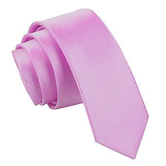 Lila Plain Satiini laiha solmio