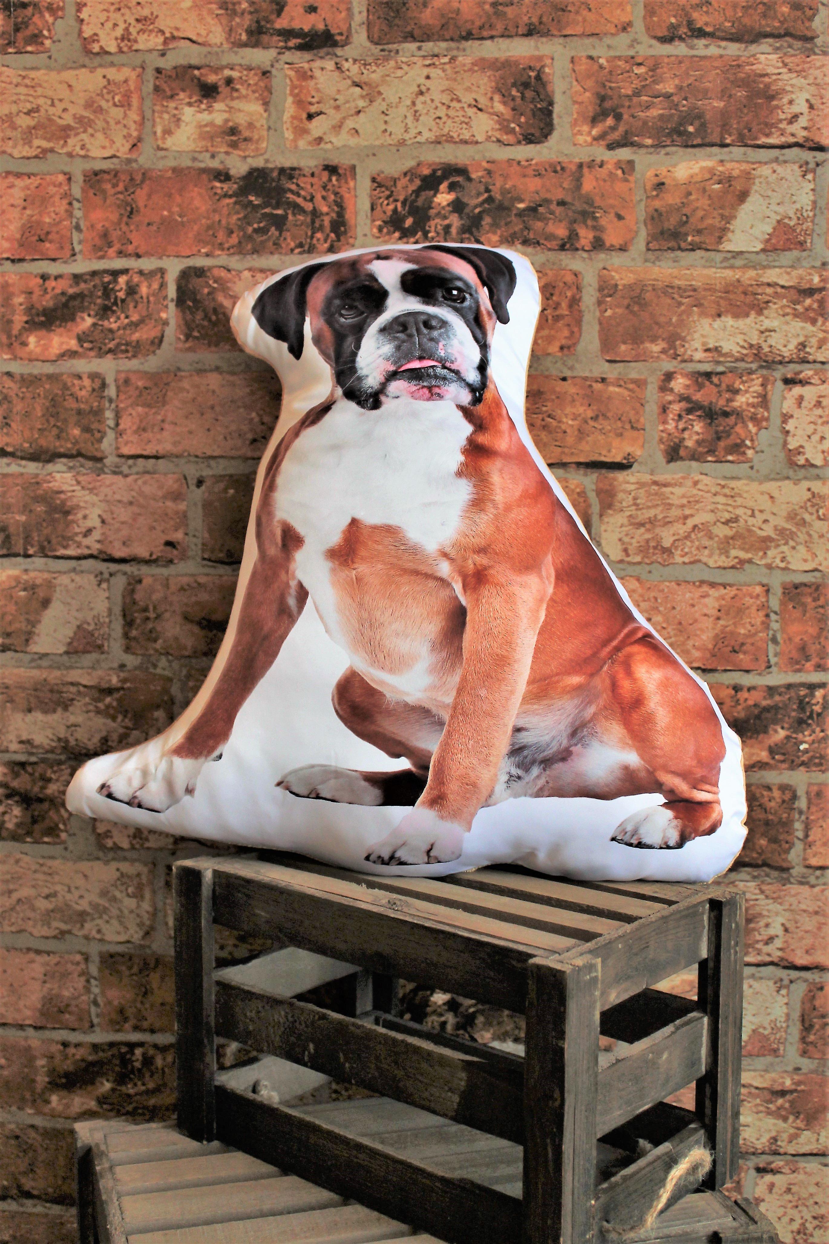 Adorable boxer shaped cushion