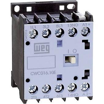 WEG CWC09-10-30C03 contactor 3 beslutsfattare 4 kW 24 V DC 9 A + extra kontakt 1 st. (s)