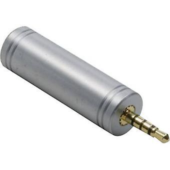 محول الصوت جاك/فونو الإلكتروني 1103096 BKL [1 × مقبس التوصيل 2.5 مم-1 x مأخذ جاك 3.5 مم] الذهب