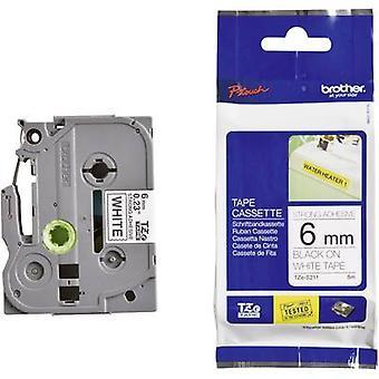 Etichettatura nastro (adesivo extra forte) Brother TZe, colore nastro TZe-S211 TZ: bianco Font colore: Nero 6 mm 8 m