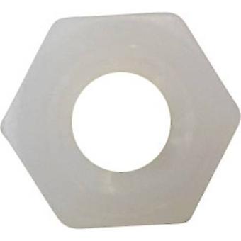 TOOLCRAFT 815969 Hexagonal écrous M3 en plastique 10 PC (s)