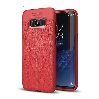 الهاتف الخليوي تغطية قضية سامسونج غالاكسي S8 + تغطية الحقيبة الإطار الأحمر