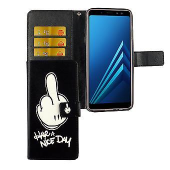 Caso malote do telefone móvel para móvel Samsung Galaxy A6 2018 tenha um bom dia preto
