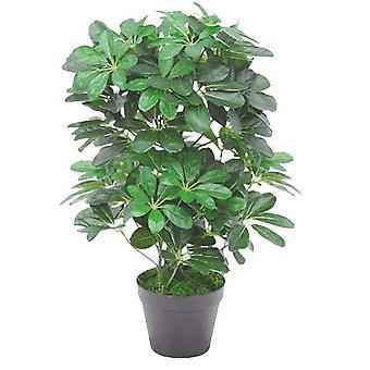 Usine de Arboricola Schefflera artificiel vert foncé 55cm