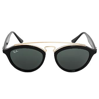 Ray-Ban runda solglasögon RB4257 60171 50 | Svart acetat ram | Gröna linser