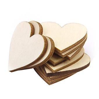 TRIXES Pack of 100 Rustic Wood Chip Hearts for Decoration and Crafts
