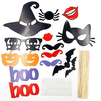TRIXES 14 stuk DIY Halloween Photo Booth Props