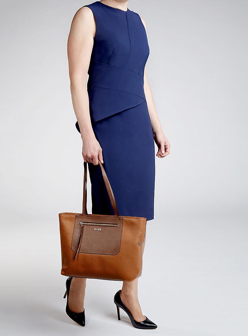 Viver Luxury Womens Tote Bag Duet Tan