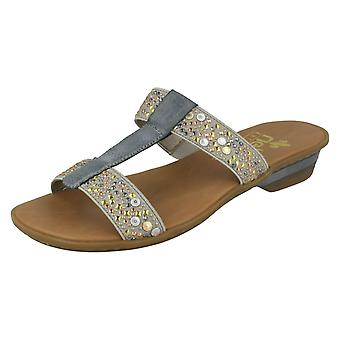 Rieker Damen jeweled Mule Sandalen 63454