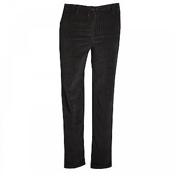 Latte Slim Fit Stretch Dogtooth Print Jeans