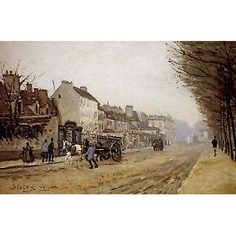 Boulevard Heloise, Argenteuil, Alfred Sisley, 60x40 cm