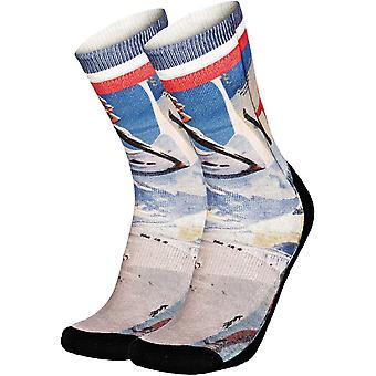 Pullin So-Long Vintageski Crew Socks in Multi