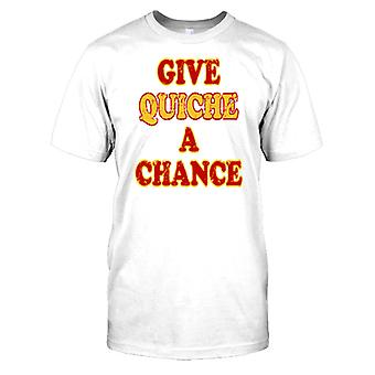 Give Quiche A Chance - Funny Wordplay Mens T Shirt