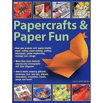 Papercrafts & papier Fun: Plus de 300 projets de papier mâché, papier découpé, papetières, Quilling, découpage...