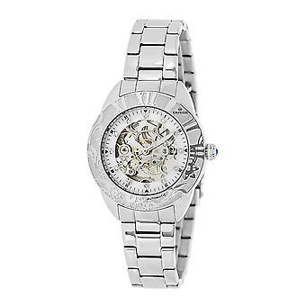 Keizerin Godiva automatische MOP armband horloge - zilver/wit