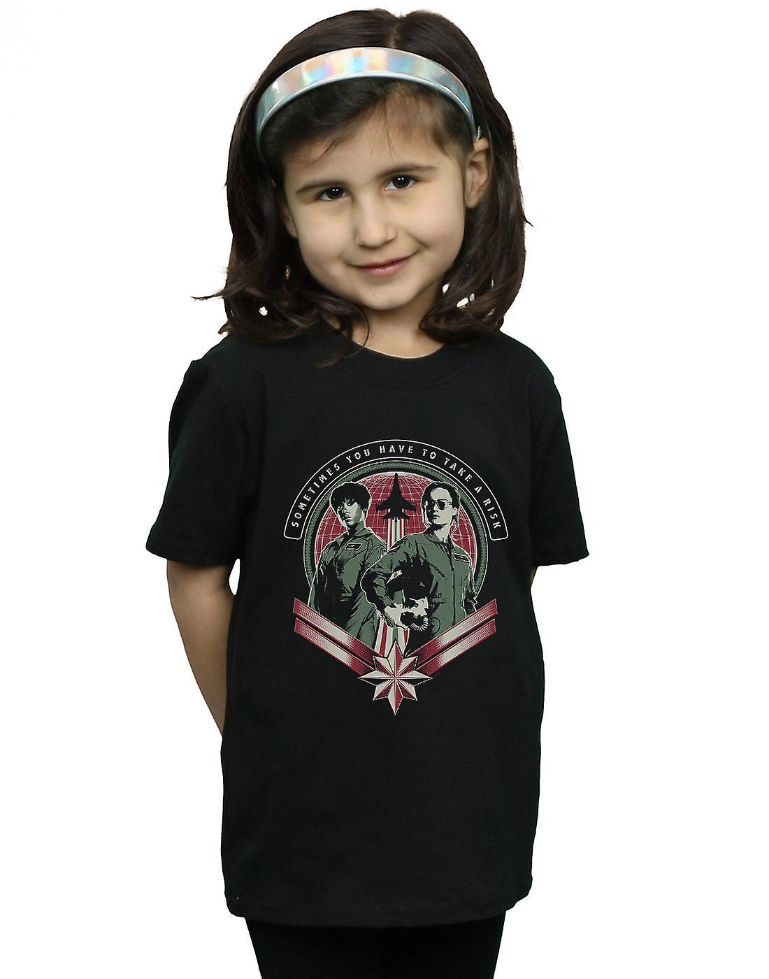 Marvel Girls Captain Marvel Take A Risk T-Shirt