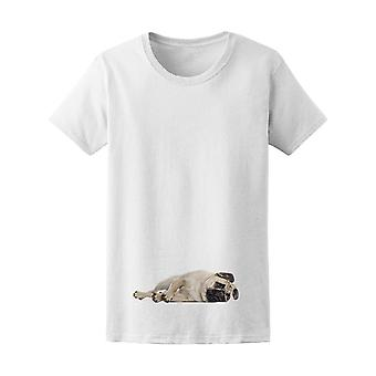Bothered Pug Lying Down Tee Men's -Image by Shutterstock