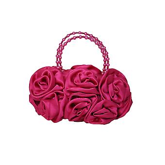 紫红色萨丁拉夫玫瑰花女孩手袋