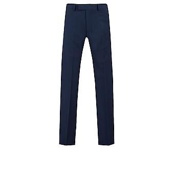 Dobell miesten tummansininen puku housut Slim Fit