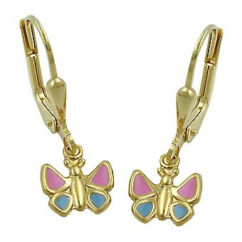 Kolczyki motyl kolczyki złote dzieci biżuteria, złoto 9 KT 375