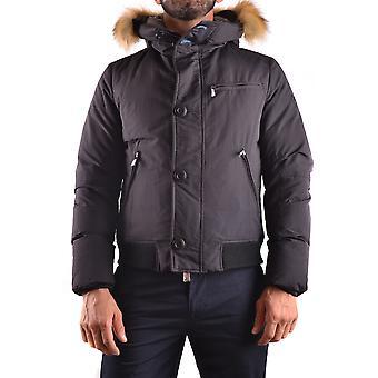 Up To Be Ezbc224003 Men's Black Nylon Outerwear Jacket