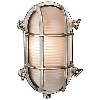 Firstlight-1 licht buitenmuur, flush licht nikkel, mat glas IP64-3433NC