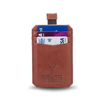 "Pull Tab Credit Card 3.1"" RFID Wallet - Tan"