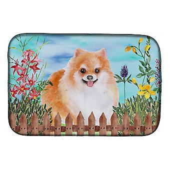 Carolines Treasures CK1278DDM Pomeranian #2 kevät lautasen kuivaus matto