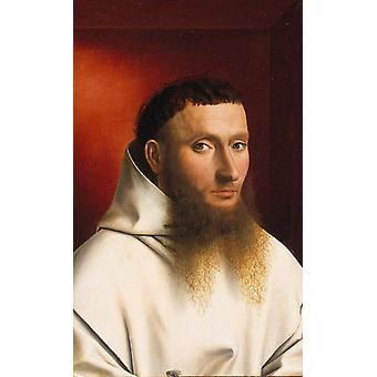 Portrait d'un moine Karthuizer, Petrus Christus, 60x37cm