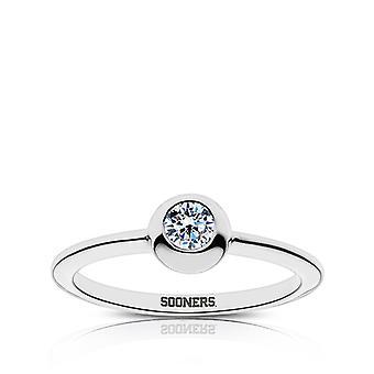 De Universiteit van Oklahoma Diamond Ring in Sterling Zilver ontwerp door BIXLER