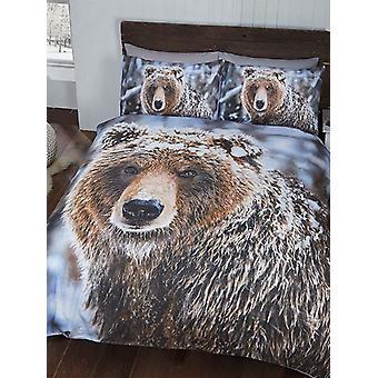 Big Bear Bettbezug und Kissenbezug Set