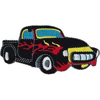 Patch - Automoblies - Black Truck with Flames Iron On Gifts New Licensed p-3784