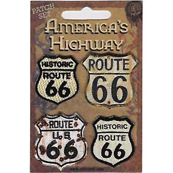 Patch - Automoblies - Route 66 Iron On Gifts New Licensed p-3728-s