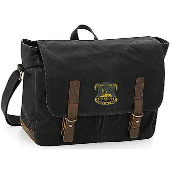 Devonshire e Dorset Light Infantry - Licenza dell'Esercito Britannico Ricamato Waxed Canvas Messenger Bag