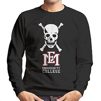 East Mississippi Community College Skull Logo Men's Sweatshirt