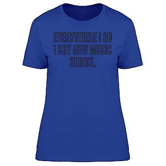 Jag köper nya musik skjortor tee kvinnor ' s-bild av Shutterstock