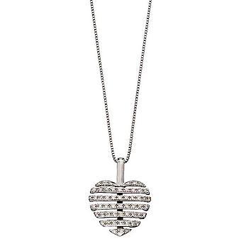 Elements Gold Split Heart Pendant - Silver