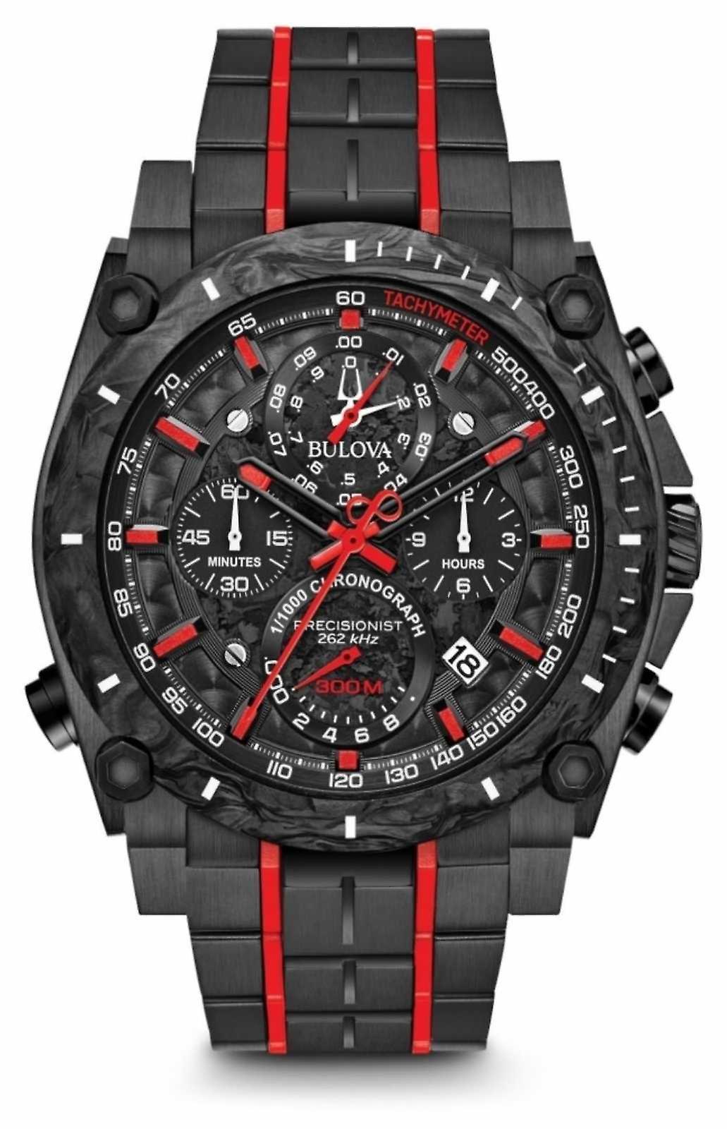 Bulova Precisionist Chronograph Black Red UHF 98B313 Watch