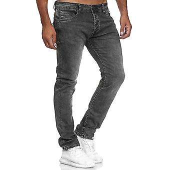 Men's Jeans Trousers Classic Denim Pants Slim Used Washed Regular Waist Bottoms