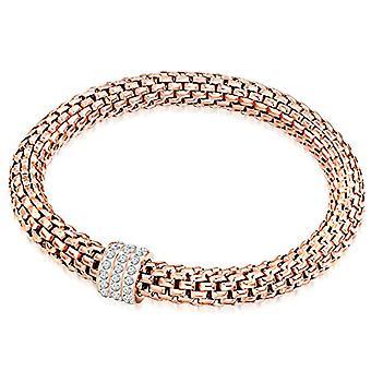 Lulu & Jane - Forced Chain Bracelet - Crystal Steel - in Different Lengths - Crystal Bracelet - Bracelets - Steel Bracelet - Jewelry d'steel - 60917009