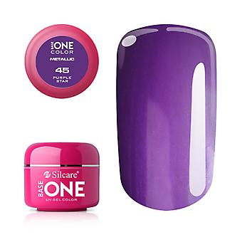 Base one-Metallic-Purple star 5g UV Gel
