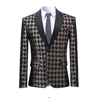 Allthemen miesten ' s painettu Slim Fit Four Seasons rento puku takki