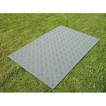 Party flooring and ground protection mat, 0.96 m², 80x120x1 cm, Grey, 1 pc.