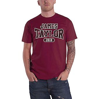 James Taylor T Shirt Euro Tour 2018 Logo new Official Mens Red