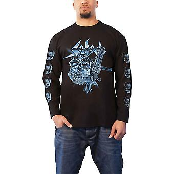 Sodom T Shirt Knarrenheinz Band Logo nouveau officiel Homme Black Long Sleeve