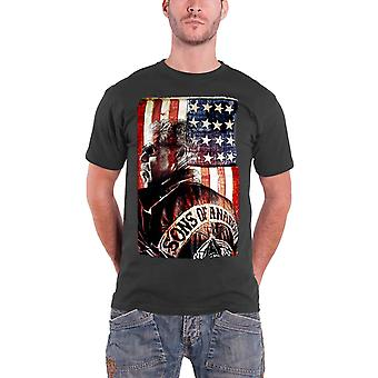 Sons Of Anarchy T Shirt President samcro Official Mens New Grey
