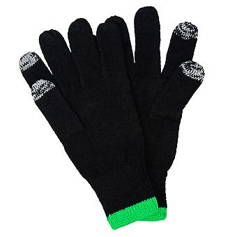 Mens New Balance Celtic Fc Knitted Gloves In Black