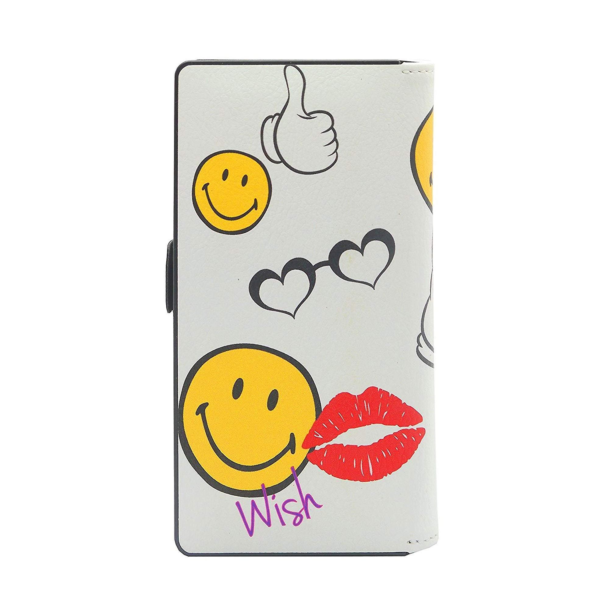 Iphone 6/6s Case X Smiley Medium Universal Rise Slider Folio