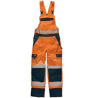 Dickies Mens Industrie Salut Visibilité Bib And Brace Coveralls